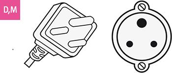 Stecker-Typ D